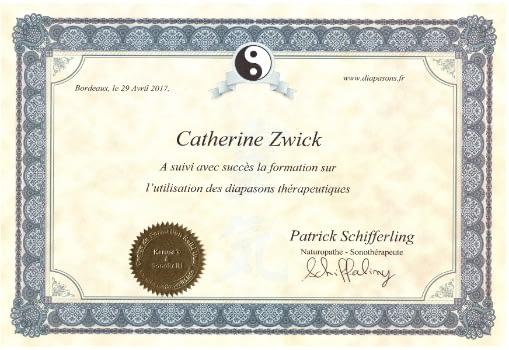Certificat Diapasons
